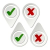vector stylish pointing checkmark stickers