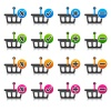vector add delete shopping basket item