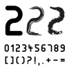 vector original font numbers - easy apply any stroke