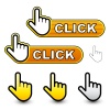 vector click hand cursor labels