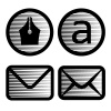 vector striped email symbols