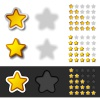 vector yellow rating stars