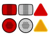 vector safety reflectors red white orange