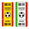 vector soccer football tournament tickets