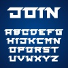 vector joined roofed font alphabet letters