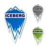 vector winter iceberg ice mountain sticker