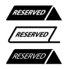 vector restaurant reserved table sign black icons