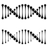 vector DNA simple black symbols