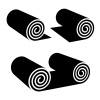 roll of anything black symbol vector
