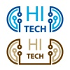hi tech electronic circuit symbol vector