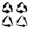 recycle triangular arrow eco symbol vector