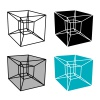 abstract hypercube simple symbol vector