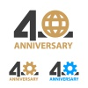 40 years anniversary industry gear globe number